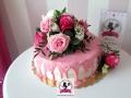 tort-marzenie-drip-cake-kwiaty